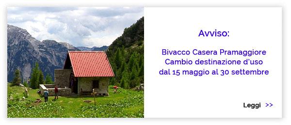 Bivacco Casera Pramaggiore