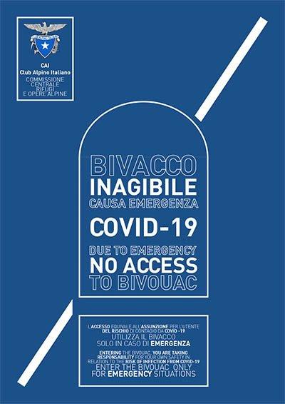 Inagibilità bivacchi Covid-19
